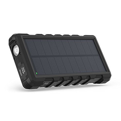 Solar Charger RAVPower 25000mAh Outdoor Portable Charger with Micro USB & USB C Inputs, Quick Charge Solar Power Bank with 3 Outputs, External Battery Pack with Flashlight - Shock, Dust & Waterproof by RAVPower (Image #8)