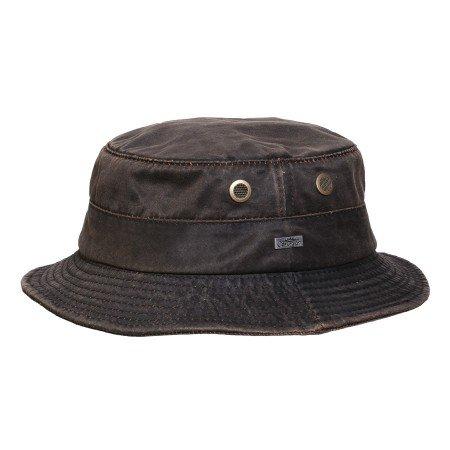 Conner Hats Men's Weathered Cotton Bucket Hat, Brown, XL