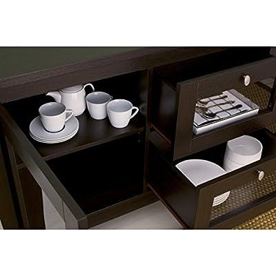 Furniture of America Mackle Coffee Bean Contemporary Buffet Cabinet