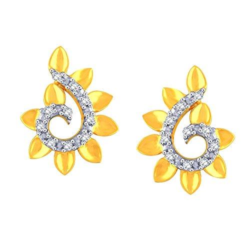 Giantti Diamant Mode Femme Boucles d'oreilles à tige (0,08ct, VS Clarté, Gh-colour)