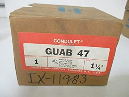 CROUSE HINDS GUAB47 EXPLOSION PROOF JUNCTION BOX LB STYLE 1 ...