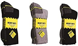 Best 6 Pair Heavy Duty Work Socks Hd Construction Shoe Sock Boot Sock