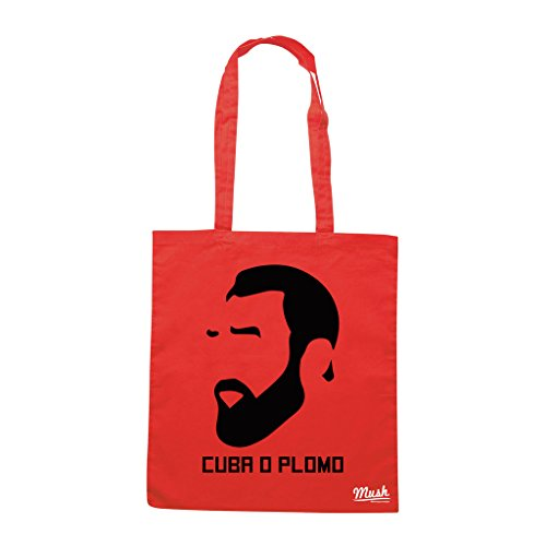 Borsa FOR PEOPLE AND NATION FIDEL CASTRO - Rossa - POLITICA by Mush Dress Your Style
