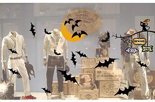 Wanrane Amazing Party Decrations Halloween Window Stickers Glass Static Stickers Bar Party Wall Stickers(16003) -
