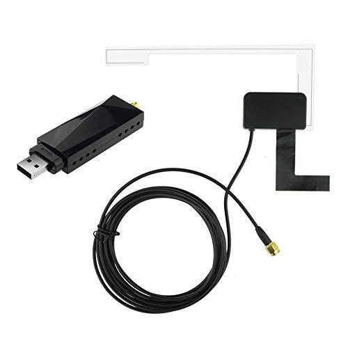 DAB+ Digital Radio Tuner USB Stick, USB2.0 Digital DVB-T SDR+DAB+FM HDTV TV Tuner Receiver Stick RTL2832U+R820T for Android Car DVD Stereo Player Car DVD