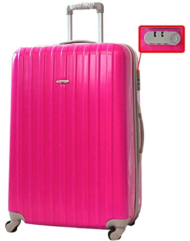 Extra Large XXL 30 Inch Hard Sided Shell 4 Wheel Spinner Suitcase ...
