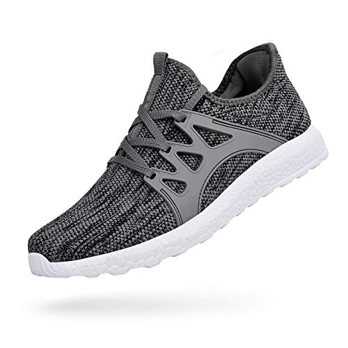 - MARSVOVO Men's Sneakers Mesh Ultra Lightweight Breathable Athletic Running Walking Gym Shoes Grey/White Size 9.5