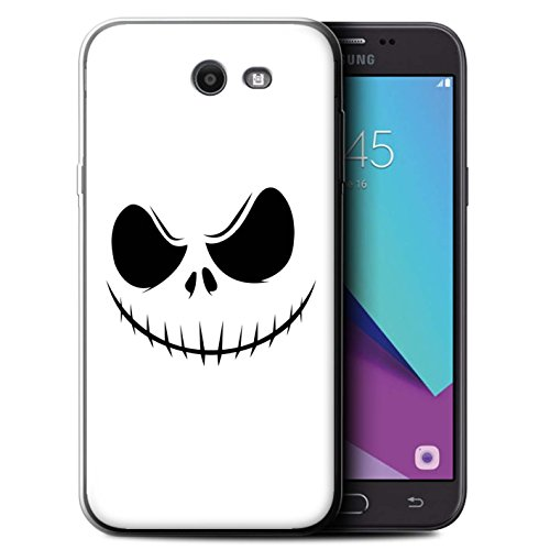 STUFF4 Gel TPU Phone Case / Cover for Samsung Galaxy J7 2017/J727 / Jack Skellington Inspired Art Design / Horror Movie Art Collection for $<!--$7.99-->