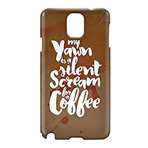 Loud Universe Samsung Galaxy Note 3 3D Wrap Around Scream for Coffee Print Cover - Multi Color
