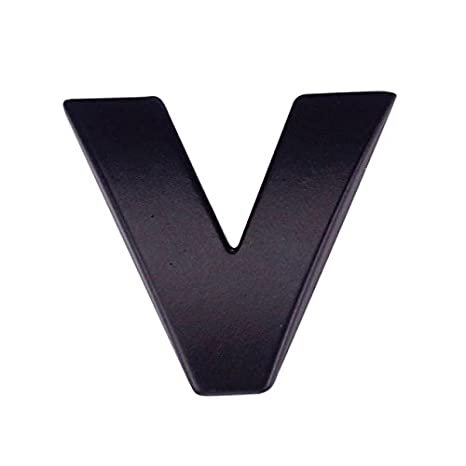 3D DIY Metallic Alphabet Sticker Car Emblem Letter Silver Badge Decal BK O Car Stickers Decals