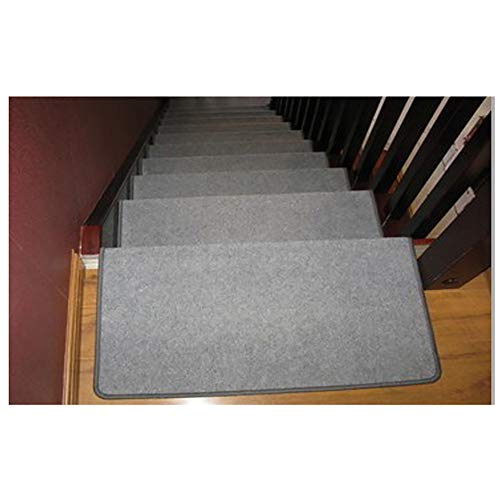 Gray Household Stairway Area Rugs, Anti-Skid Indoor Stair Carpet, Glue Free Self Adhesive Carpet (Color : Set of 7, Size : 90x24x3cm)