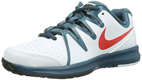 Nike Vapor Court 633307 Jungen Tennisschuhe Weiß (White/Lt Crimson-Nght Fctr-Blk)