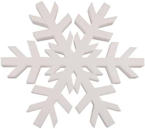 Smoothfoam Snowflake Crafts Foam for Modeling, 12-Inch, White -