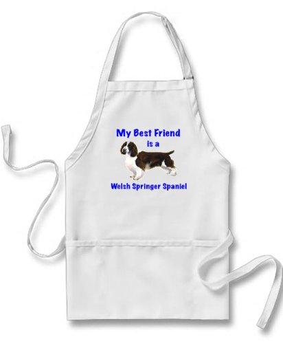 My Best Friend is Welsh Springer Spaniel Apron