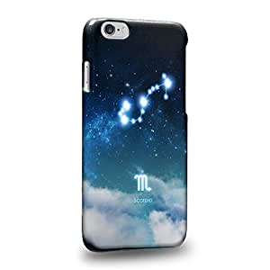 """The most popularThe 12 Zodiacal Constellations 3D Space Blue Scorpio zodiacal signs Protective Snap-on Hard Back Case Cover for Apple iphone 6 4.7"""""""