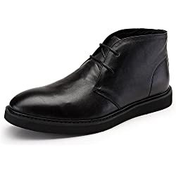 Zorgen Men's Casual Boots Genuine Leather Lace-up Rubber Sole Sports Boots