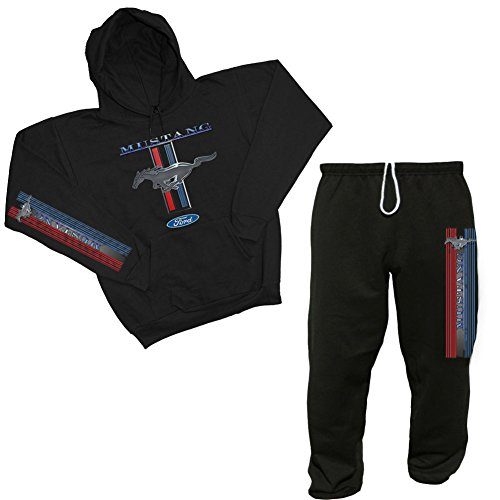 Ford Mustang Sweatshirt and Sweatpants Set (XL) Black