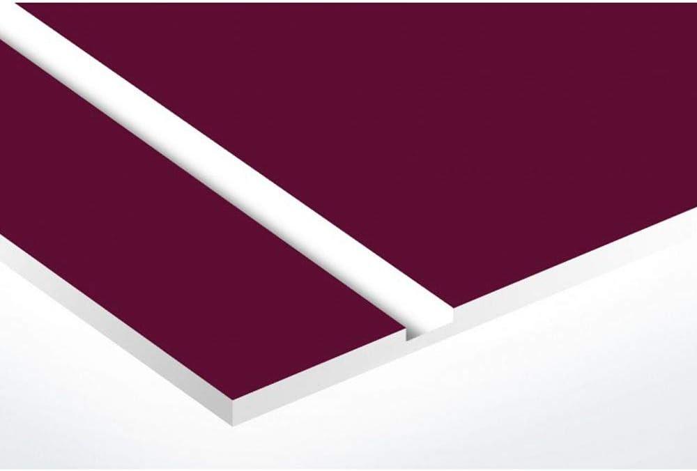grise lettres blanches 1 ligne Plaque boite aux lettres format Decayeux TRISKELL 100x25mm