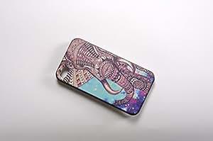 FBA 2 regalo de Navidad * case por iphone 4 / 4s Elephant * negro funda