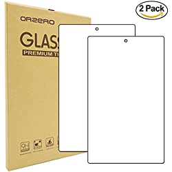 [2 Pack] Orzero For All New Fire HD 10 ( Only Fit for 7th Gen, 2017 Release ) [ Upgraded ] Tablet Tempered Glass Screen Protector, 9 Hardness HD Anti-Scratch [Lifetime Replacement Warranty]