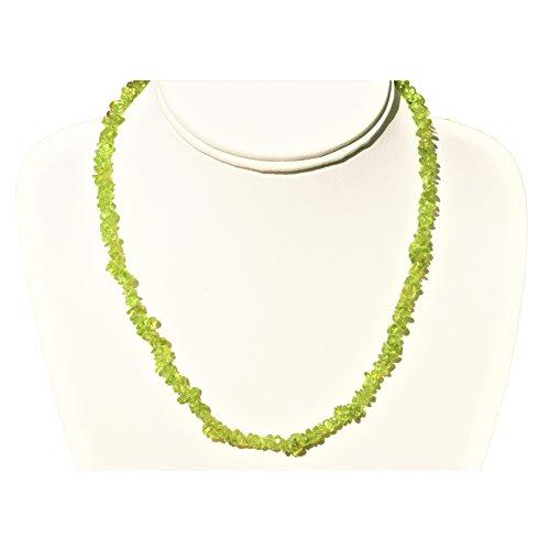 Charged 18 Peridot Crystal Necklace Tumble Polished Healing Energy [Reiki] by ZENERGY GEMS