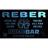 q36939-b REBER Family Name Home Bar Beer Mug Cheers Neon Light Sign