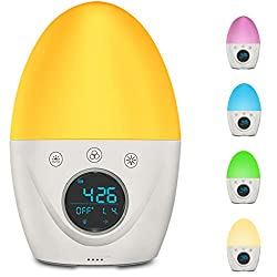 Kids Alarm Clock, FiveHome Wake Up Light Alarm Clock, Color Changing Kids Baby Night Light with 3 Alarm Mode, 5 Natural Sounds, Timer,USB Rechargeable