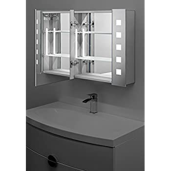 Noble LED Illuminated Bathroom Mirror Cabinet With Sensor & Shaver k16
