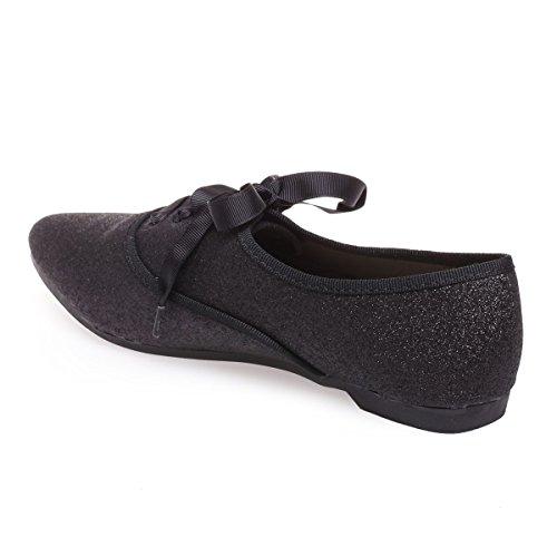 Para De Cordones Modeuse La Mujer Zapatos Negro qTERI