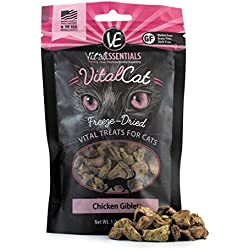 Vital Essentials Freeze-Dried Chicken Giblets Grain Free Limited Ingredient Cat Treats, 1 Ounce Bag