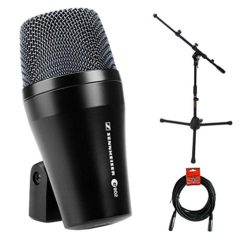 - Sennheiser E902 Cardioid Dynamic Kick Drum Microphone with MS-5220T Short Tripod Microphone Stand and XLR Cable