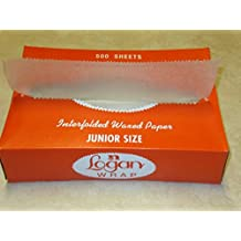 """10"""" Length X 8"""" Width, Deli Wrap Eco-pac Natural Interfolded Wax Paper 500 Sheets"""