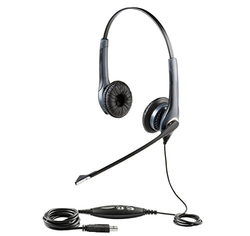 Jabra GN2000 USB Duo MS Lync Optimized Corded Headset for Softphone -
