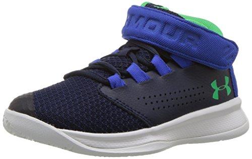 Basketball Superstar Adidas - Under Armour Boys' Pre School Get B Zee Basketball Shoe, Midnight Navy (410)/Ultra Blue, 2