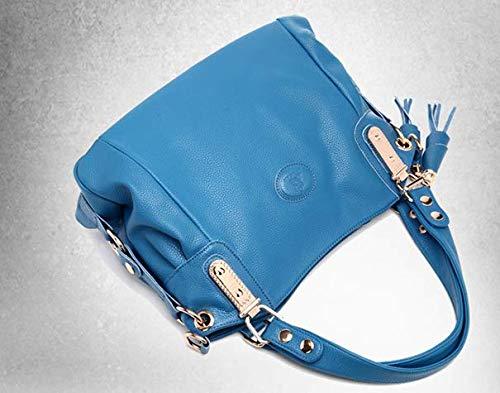 À Mzdpp Tout Fringe Couleurs Sac 2018 Simple Bandoulière 5 Fourre Lady Casual Décoration Blue C4f04wxrq