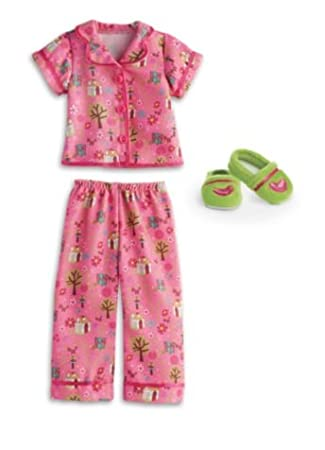 American Girl Wellie Wishers Enchanted Garden PJs Doll Outfit- PJs and Slippers