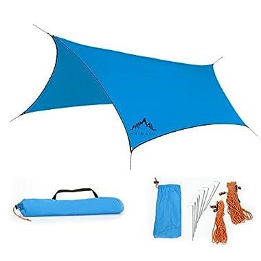 [Camping Essential] Himal 3m*2.95m Waterproof Sunshade Tent Rain Fly Tent Tarp (Blue)