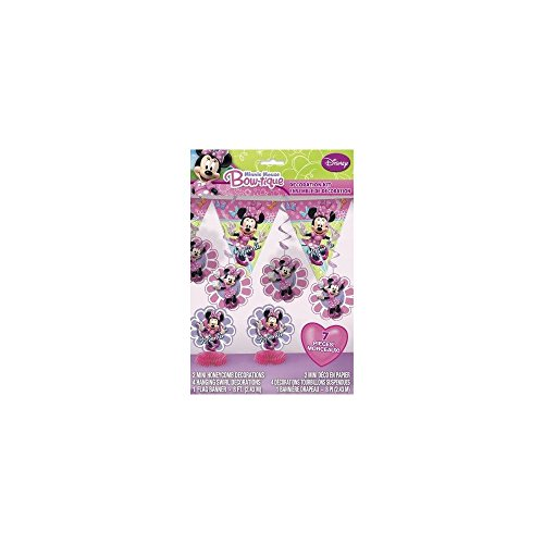 Minnie Mouse Bow-tique Decoration Kit - 7 Pcs Unique