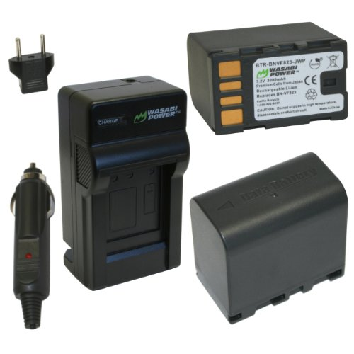Wasabi Power Battery and Charger Kit for JVC BN-VF823, BN...