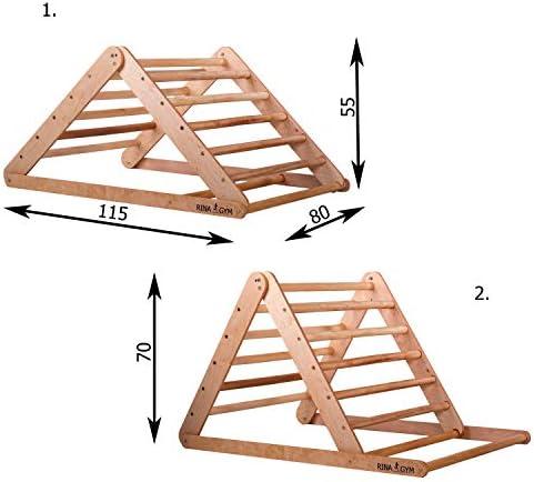 RINAGYM Escalera de Ascenso Triangular - Gimnasio Interior para ...