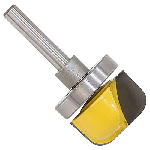 """Euone Router Bit Clearance Sale , 1/4'' Shank 1-1/8"""" Diameter Bowl Router Bit Dish Tray Carving Woodworking"""