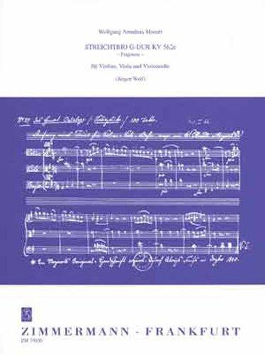 Trio G-Dur KV 562e Anh 66 - Fragment. Violine, Viola, Violoncello