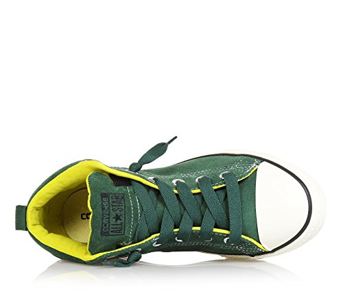 CONVERSE - Zapatilla verde de cordones, de ante, con punta blanca de caucho, Niño, Niños