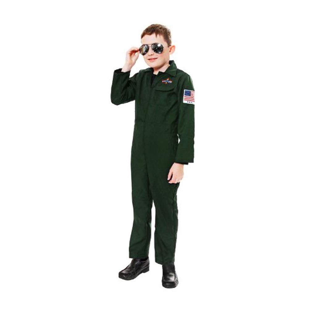 Children CHILDRENS AVIATOR TOP GUN FIGHTER PILOT FANCY DRESS (4-6 ...