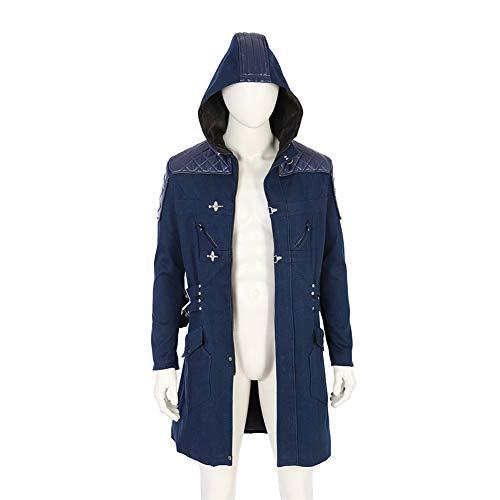 COMShow DMC 5 Nero Cosplay Costume Long Hooded Trench Nero Cosplay Coat]()