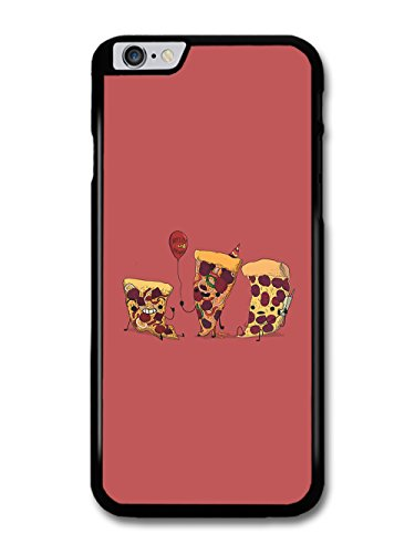 Pizza Party Cool Illustration on Burgundy Background case for iPhone 6 Plus 6S Plus