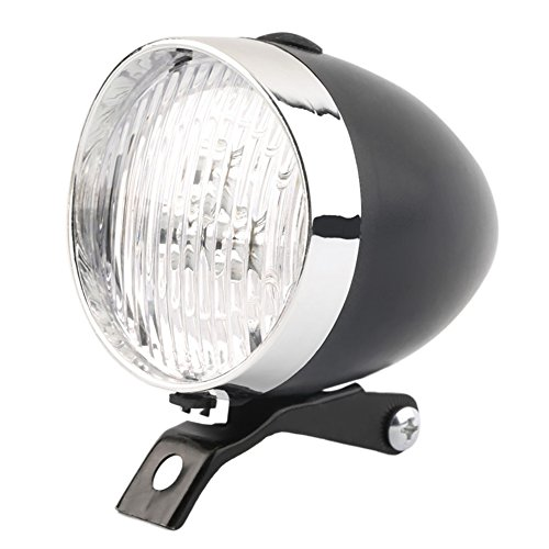 BleuMoo Retro Bicycle Bike LED Front Light Headlight Vintage Flashlight Lamp (Black) For Sale