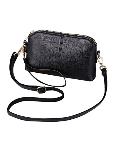 Women's Bag Genuine Handle 38177 Shoulder Black Cross Leather Bag Bag body 7frS87qxw
