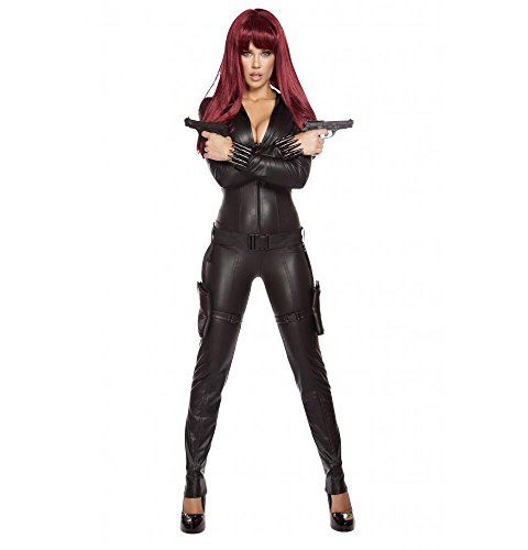 Roma Costume Women's 2 Piece Alluring Assassin, Black, Large]()