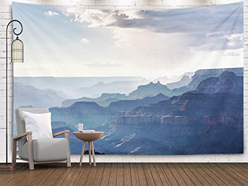 - Pamime Wall Art Hanging Tapestry,Home Decor Tapestry Grand Canyon National Park Rainy Cloud from South Rim Dorm Room Bedroom Living Room 80X60 Inches(200X150Cm) Bedspread Inhouse,Silver Black